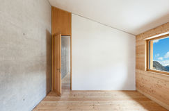 Mountain home, room with window. Architecture modern design, mountain home, room with window stock photos