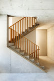 Mountain home, staircase Royalty Free Stock Images