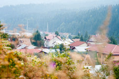 Mountain homes district Royalty Free Stock Image