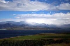 Mountain at the horizon Stock Image