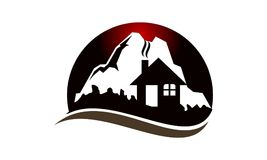 Mountain Hostel Logo Design Template. Vector Stock Image