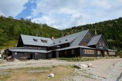Mountain hostel Samotnia in Karkonosze mountains. Stock Photos