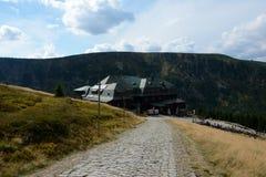 Mountain hostel Strzecha Akademicka in Karkonosze mountains. Royalty Free Stock Images