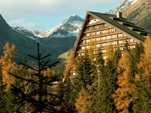 Mountain hotel. Hotel Patria in High Tatras, Slovakia, in autumn colors Royalty Free Stock Photos