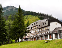 Mountain hotel Royalty Free Stock Photo