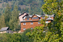 Mountain hotel Stock Photography