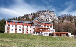 Mountain hotel in resort Malino Brdo, Slovakia. MALINO BRDO, SLOVAKIA - APRIL 29: Mountain hotel Malina at resort Malino Brdo on April 29, 2016 in Malino Brdo Royalty Free Stock Photography