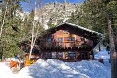 Mountain hotel Zamkovskeho chata in High Tatras, Slovakia Royalty Free Stock Photo