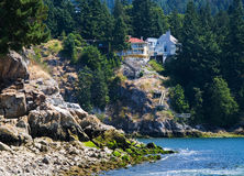 Mountain House. West Vancouver. White Cliff Park stock photo