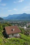 Mountain House above Merano. View of the Tirolo Merano Valley with Mountain House in foreground royalty free stock image
