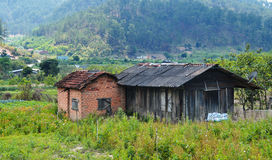 Mountain house at countryside in Dalat, Vietnam Stock Image