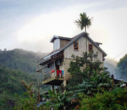A mountain house on the hill in Ifugao, Philippines Royalty Free Stock Photo