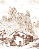 Mountain House Royalty Free Stock Image