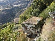 Rustic house. Mountain house in Sierra Nevada village of Capileira, Spain Europe Stock Image