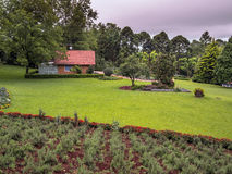 Mountain house. Surrounded by extensive lawn, gardens, and trees - Gramado city - Brazil Stock Photography