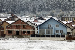 Mountain houses. Some mountain houses in winter royalty free stock photography