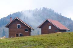 Mountain houses Stock Photography