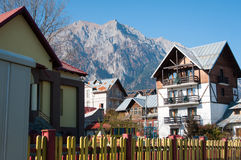 Mountain houses Royalty Free Stock Images
