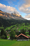 Mountain and houses Royalty Free Stock Photography