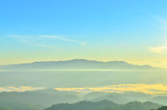 Mountain at Huai Nam Dang Stock Images
