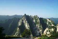 Mountain Huashan Landscape Stock Photo