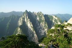 Mountain Huashan Landscape Royalty Free Stock Images