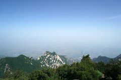 Mountain Huashan Landscape Stock Image