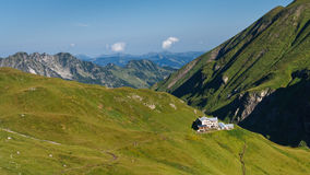 Mountain Hut. In the Alps, Bavaria, Germany stock photo
