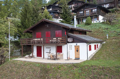 Mountain hut. Hut in a small mountain village. Location is Bellwald Switzerland Stock Photos