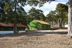 Mountain hut. In Troodos,Cyprus Stock Photography
