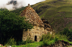 Mountain hut. Mountain village in Caucasus, Digoria, Russia Royalty Free Stock Images