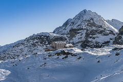 Mountain Hut in Alagna Valsesia Royalty Free Stock Images