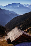 Mountain hut Stock Images