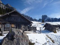mountain hut in austrian alps Royalty Free Stock Images