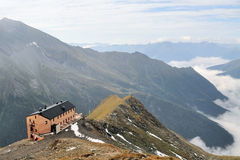 Mountain hut in the Austrian alps Stock Photography