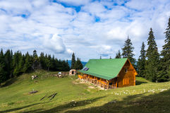 Mountain hut Stock Photography