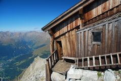 Mountain hut: capanna Lagoscuro, Tonale, Italy Royalty Free Stock Photos