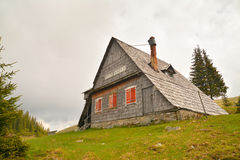 Mountain hut Stock Photo