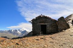 Mountain Hut on Chacaltaya near La Paz, Bolivia Stock Image