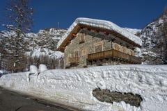 Mountain hut chalet Stock Image