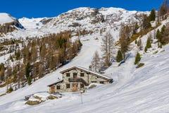 Mountain Hut in Champoluc Stock Image