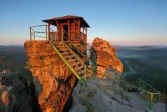Mountain hut - Czech rebublic. Mountain hut in Czech rebublic Stock Photos