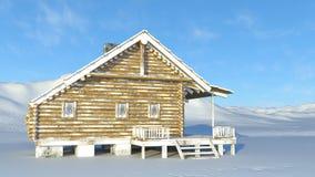 Mountain hut. 3D CG rendering of the mountain hut Stock Photos