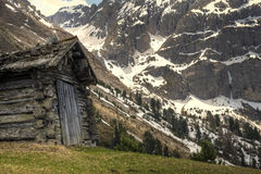 Mountain hut Royalty Free Stock Photos