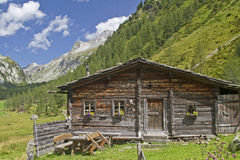 Mountain hut in East Tyrol Royalty Free Stock Photo