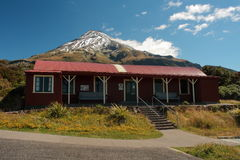 Mountain hut at Egmont National Park. In New Zealand Royalty Free Stock Photos
