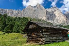Mountain Hut in Gardeccia Royalty Free Stock Photos