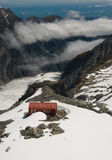 Mountain Hut and Glacier New Zealand Stock Image