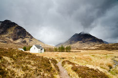 Mountain hut in Glen Coe Royalty Free Stock Photography