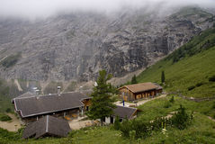Mountain hut. Hiking through the Bavarian Alps of Southern Germany Royalty Free Stock Images